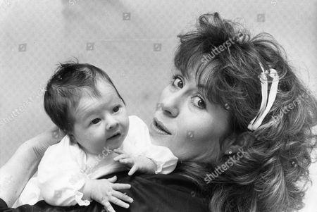 Actress Elisabeth Sladen With Her Baby Daughter Sadie