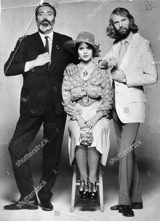 Alan Simpson With Writing Partner Ray Galton AndMadeline Smith