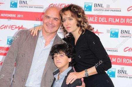 Luca Zingaretti, Luigi Catani and Valeria Golino