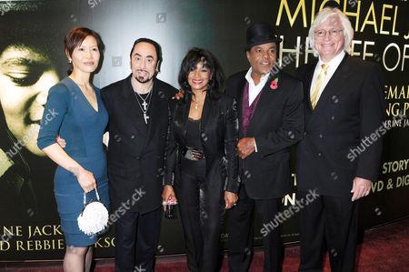 Susan Yu, David Gest, Rebbie Jackson, Tito Jackson and Thomas Mesereau