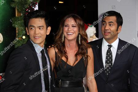 John Cho and Kal Penn with Danneel Harris