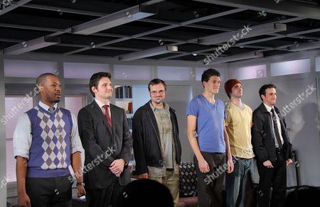 Corey Hawkins, Toby Leonard Moore, James McMenamin, Gabriel Ebert, Jake O'Connor and Mike DiSalvo