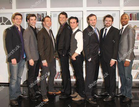 Stock Picture of Toby Leonard Moore, Jake O'Connor, Director Jonathan Berry, Gabriel Ebert, Mike DiSalvo, James McMenamin, Andrew Hinderaker and Corey Hawkins