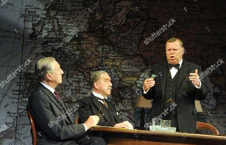 'Three Days in May' - Jeremy Clyde as Lord Halifax, Robert Demeger as Neville Chamberlain, Warren Clarke as Winston Churchill