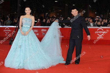Stock Photo of Zhang Ziyi and Changwei Gu