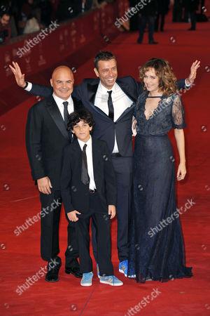 Luca Zingaretti, Luigi Catani, director Ivan Cotroneo and Valeria Golino