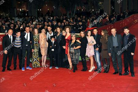 Stock Photo of Valeria Golino, Luigi Catani, Luca Zingaretti, director Ivan Cotroneo and cast