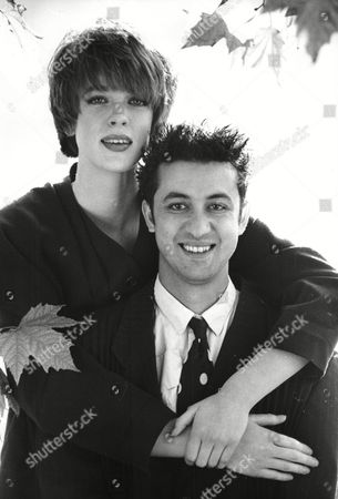 Editorial photo of British Hairdresser Of The Year 1988. Anthony Mascolo With One Of His Creations On A Model.