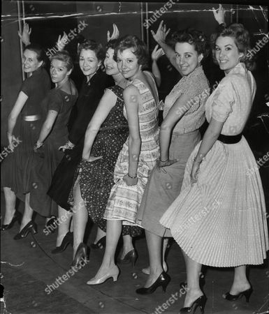 It's A Special Number For The Biggest Star Show Of The Year 'night Of The Stars' At The London Palladium. In The 'chorus' Are From The Left: Sheila Sim Brenda Bruce Jean Kent Dulcie Gray Anna Massey Thelma Ruby And Sally Ann Howes.