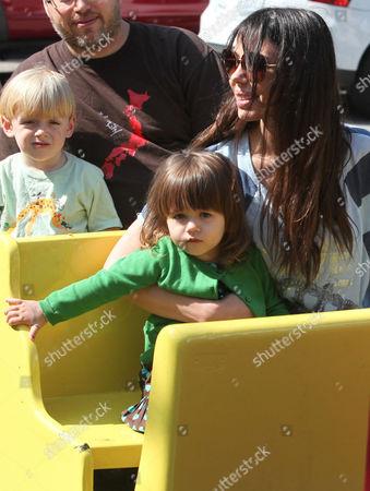 Oksana Grigorieva and her daughter Lucia Gibson
