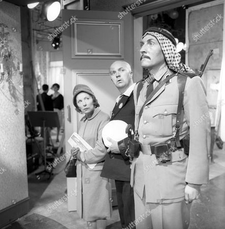 Behind the scenes, Gretchen Franklin, George A. Cooper and unknown