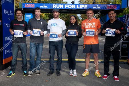 Editorial photo of ING New York City Marathon Celebrity Runners Bib Presentation, New York, America - 04 Nov 2011
