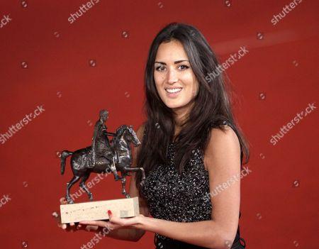 Sarah Kazemy with the Marc'Aurelio Emerging Talent Award for 'Circumstance'