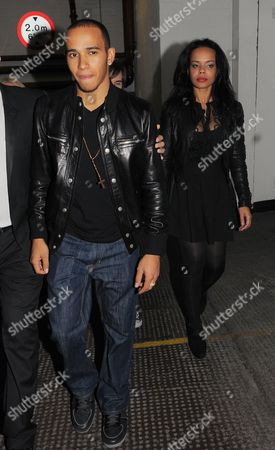 Stock Picture of Lewis Hamilton with  friend  Phreeda Sharp