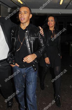 Stock Photo of Lewis Hamilton with  friend  Phreeda Sharp