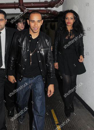 Lewis Hamilton with  friend  Phreeda Sharp