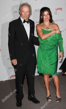 Stock Photo of Clint Eastwood and wife Dina Eastwood
