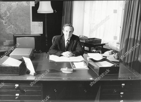 George Younger (viscount Younger Of Leckie) The New Secretary Of State For Defence In His Office