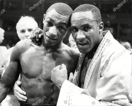 Herol Graham V Mike Mccallum World Middleweight Championship At Albert Hall Herol Graham (left) And Mike Mccallum After Mccallum's Win