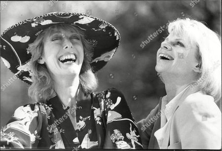 Stock Photo of Actress Jill Bennett And Actress Maria Aitken At The Ritz Hotel They Are Both To Star In New Tv Series 'poor Little Rich Girls'