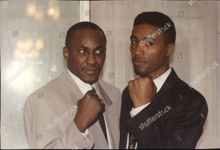 Boxer's Mike Mccallum (left) And Michael Watson (right)