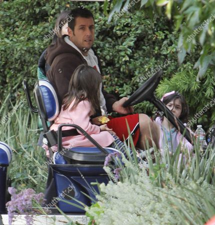 Adam Sandler with daughters Sunny Madeleine Sandler and Sadie Madison Sandler