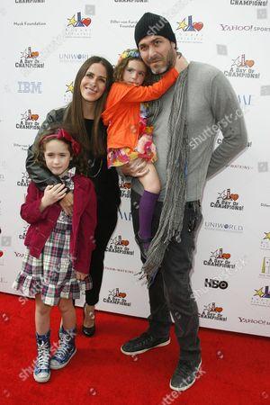 Soleil Moon Frye, husband Jason Goldberg, children Poet and Jagger Goldberg