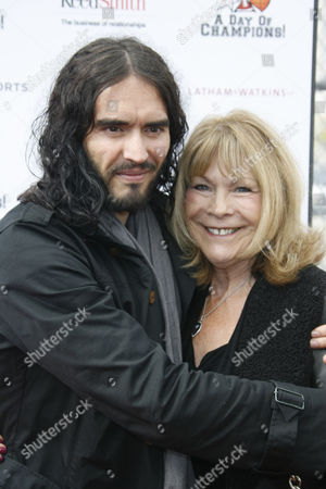 Stock Image of Russell Brand and mother Barbara Elizabeth Brand