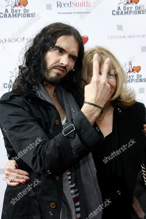 Russell Brand and mother Barbara Elizabeth Brand