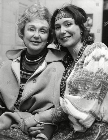 Actress Googie Withers With Daughter Actress Joanna Mccallum