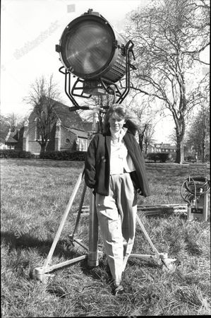 Fay Masterson Child Actor With Film Set Light 1988.