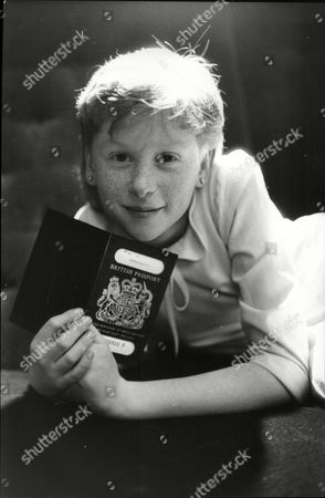 Fay Masterson Child Actor 1986 Shown With Passport.