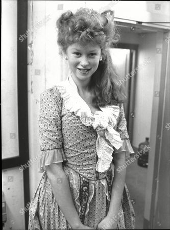 Stock Picture of Fay Masterson Child Actor 1985 In Historical Dress For Film Valmont.