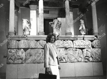 Melina Mercouri Greek Cultural Minister Elgin Marbles Stock Photo