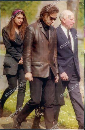 Bob Geldof At Funeral Of Jess Yates 1993.
