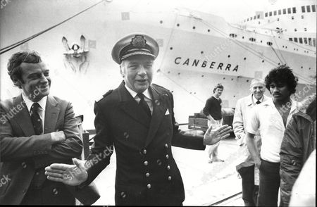Captain Dennis Scott-masson Of P&o Whose Ship Canberra Entered Falklands War-zone 1982.