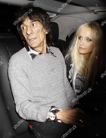Ronnie Wood and girlfriend Nicola Sargent