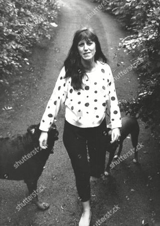 Editorial image of (brinksmat) Brink's Mat Robbery Background Turpington Farm Southborough Lane Bromley Home Of Kathleen Mcavoy (mrs Michael Mcavoy) She Is Pictured On The Grounds With Her Two Rottweiler Dogs