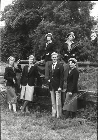Pictures Show The British Nation Three Day Event Team Wearing Their Fashionable Uniform Which Has Been Supplied To Them By Simsons The Team Are Lucinda Green Clarisa Strachan Diana Clapham Richard Meade Virginia Holgate And Rachel Baylis