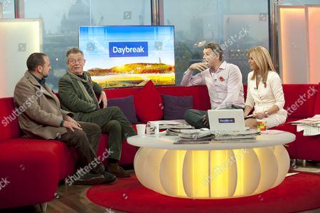 Jason Wingard and John Hurt with Dan Lobb and Helen Fospero