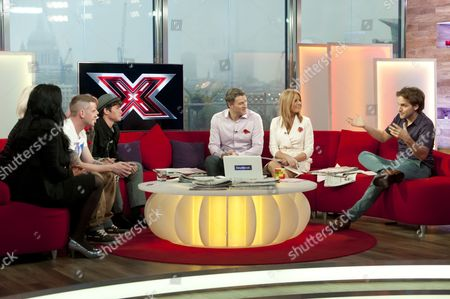 X Factor : 2 Shoes - Lucy Texeira and Charley Bird, Jonjo Kerr, Amelia Lily Oliver and James Michael with Dan Lobb, Helen Fospero and Steve Hargrave.