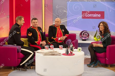 The Soldiers - Lance Corporal Ryan Idzi, Sergeant Major Gary Chilton, Sergeant Richie Maddocks with Gaynor Faye