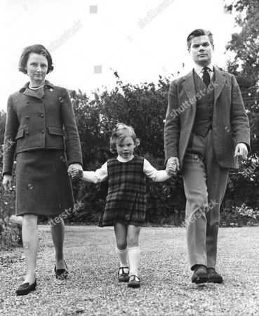 Colin Campbell Mitchell / Mad Mitch Mitchell Soldier And Politician With His Unnamed Wife And Daughter 1969.