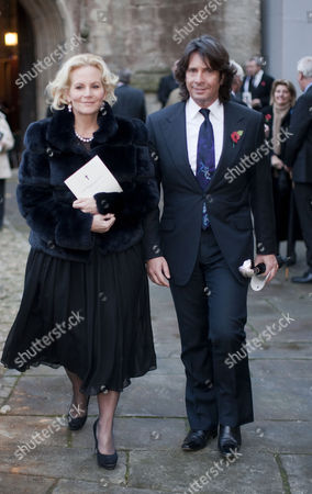 Stock Picture of Laurence Llewelyn-Bowen and wife Jacqueline