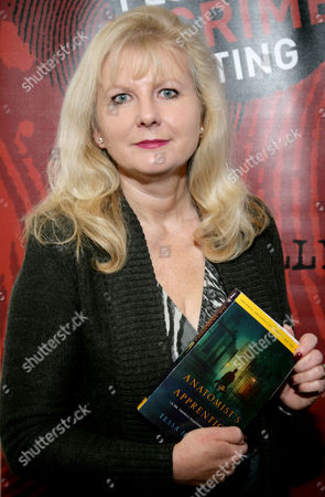 Stock Picture of Tessa Harris at Reading Central Library to promote her book 'Anatomists Apprentice'