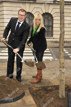 Editorial picture of Jo Wood and Roland Fasel launch 'Future Great Trees' campaign - London, Britain - 14 Nov 2011