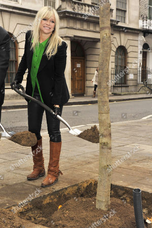 Editorial image of Jo Wood and Roland Fasel launch 'Future Great Trees' campaign - London, Britain - 14 Nov 2011