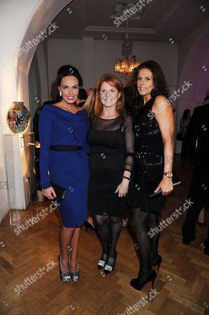 Tamara Ecclestone, Sarah Ferguson Duchess of York and Slavica Ecclestone
