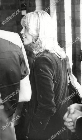 Editorial photo of Actress Tessa Wyatt At The Funeral Of Actress Yootha Joyce