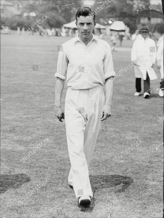Doug Wright Cricketer With Kent 1938.
